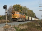 E949-16 heads west with coal empties
