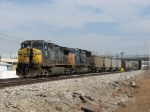 CSX 158 & 4726 wait with E945-01 for the swing bridge to be fixed