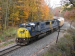 CSX 8766 rolls down Saugatuck Hill with Q327-01