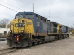 CSX 135 & 156 parked at the west end of Ensel Yard after bringing K902-04 in the previous day