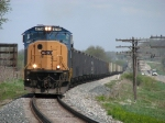 CSX 4779 leads N900 out of the sag