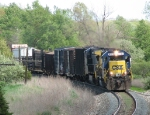 CSX 8123 rounds the curve with Q327-17