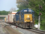 D700-28 rolling east away from Waverly Yard with 15 cars