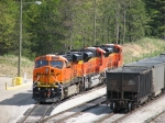 BNSF 6237, 9174 & 9168 rest on the servicing track