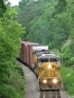 37E slowly heads south deep in the trees