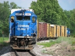B1G heads east bracketed by Conrail blue
