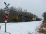 CSX 4573 sits just short of the 122nd Ave crossing with Q326-20