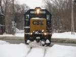 6134 pushes a little more snow away as Y121 crosses 8th Street