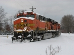 BNSF 5725 & 6139 turn down the West Wye as D803-23