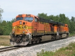 BNSF 5735 trails out the plant lead on D802