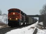 BNSF 9146 leading N956-23 under I-196