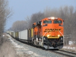 BNSF 9372 & 6163 rolling through the country side with E945-25