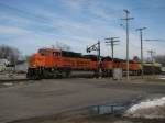 9372 rolls through the old crossing signals with E945-25