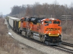 BNSF 9372 & 6163 roll down track 1 with E945-25