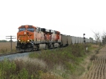 BNSF 5963 & 5815 lead N903-06 past the east end of the siding