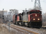 CN 5535, 8823 & 2530 crawl northward with M382