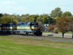 ICE Train NB in Mississippi River Park in Bettendorf