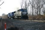 BNSF 9750 on coal loads