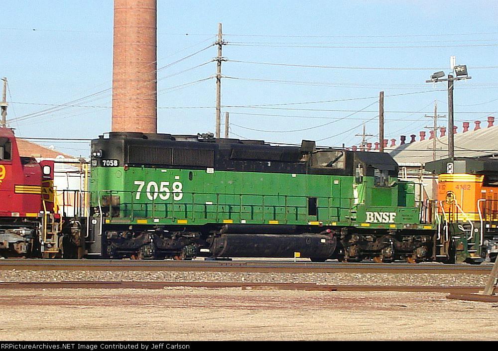 Stripped BNSF 7058