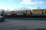 LORAM FLAT CAR WITH GRINDERS