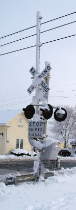 Snow covered Signal