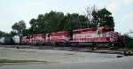 WSOR 702 trailing three SD40-2s switching