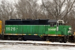 "Here's a shot of BNSF GP28M 1526 as the second unit of ""local 31"""