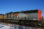Here's a shot of graffiti-riddled Union Pacific SD40-2 2730.