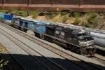 NS 2728 & 2 Conrail blue C40-8W