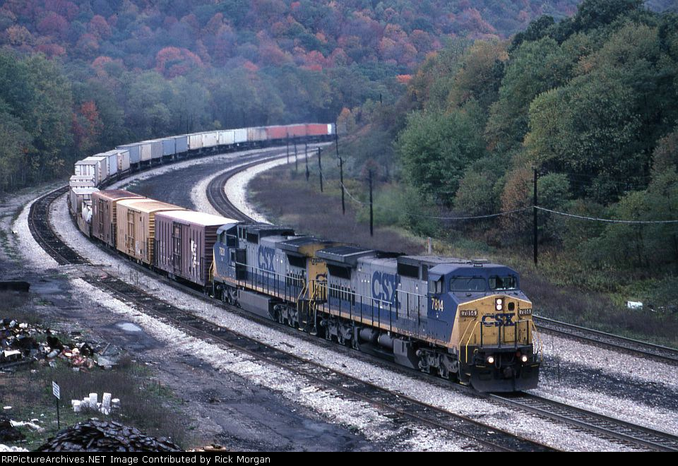 Eastbound CSX freight on Sand Patch