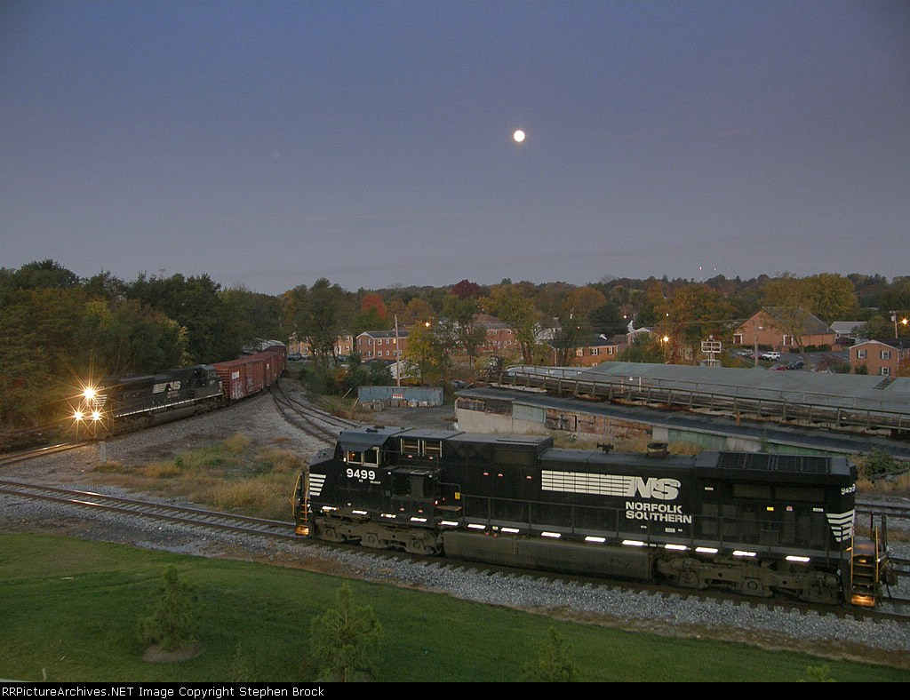 The full moon shines down on the CHW in the pre-dawn hours
