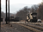 NS 2593 (V92) heads south in the yard to grab her train for the trip back to Harrisonburg