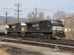 Thoroughbred's 9478 & 9445 take the V92 grain train through the yard