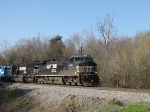 THE NB 38Q is several miles south of the yard and is bringing even more EMD units