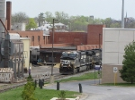 NS 9915 & 8955 push their Sunday morning special back to the main yard
