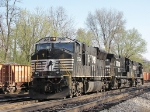 """Thoroughbreds in transit, setting up to drag a """"Rock Train"""", north"""