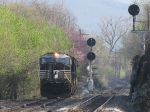 """Setting up to take a NB """"Rock Train"""" in the North end of the yard"""