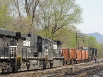 With 6 locomotives in towe, this conductor is getting his exercise