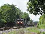 NS 9408 & 9594 bringing the grain train towards Pilgrim's Pride