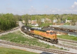 BNSF 5610 & NS 2556 now lead V92 north to the Pilgrim's Pride Mill