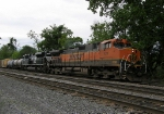 BNSF 1011 leads V92 through the yard