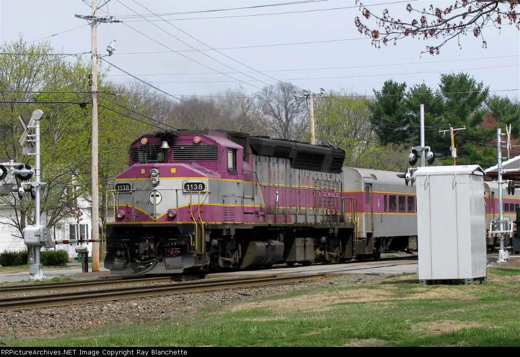 Colorful MBTA train