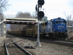 CSX 2476 (former Conrail) at point hauling steel rails