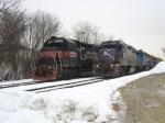 Five northbound engines on NECR line