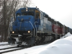 NECR Train #323, with Ex-Conrail SD40 #6281 on the point.