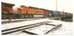 BNSF 6000 a ES44AC rolls north towards Sterling, CO.