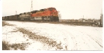 BNSF 9355 rolls east towards Creston Ia with a loaded coal train.