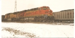 BNSF 5987 rolls south to KC, Ks. with a loaded coal train.