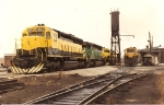 Some classic 1980's/90's NYSW power sits at the enginehouse