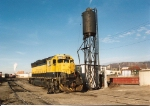 SD45 # 3612 rests next to the sand tower in the NYSW's yard